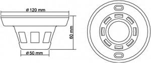 煙探知機型防犯カメラITC-502HM IIの寸法図