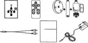 メガピクセルビデオカメラITR-160のセット内容