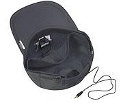 ハードディスク(HD)内蔵ミニレコーダーPoliceBook3000(PB3000)の帽子内部