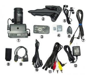 暗視カメラNS-1300Rの付属品