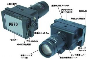 暗視カメラNS-1300Rの各部名称