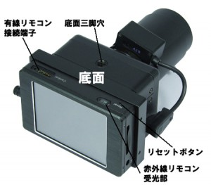 暗視カメラNS-1300Rの各部名称2