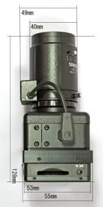 暗視カメラNS-1300Rの寸法図2